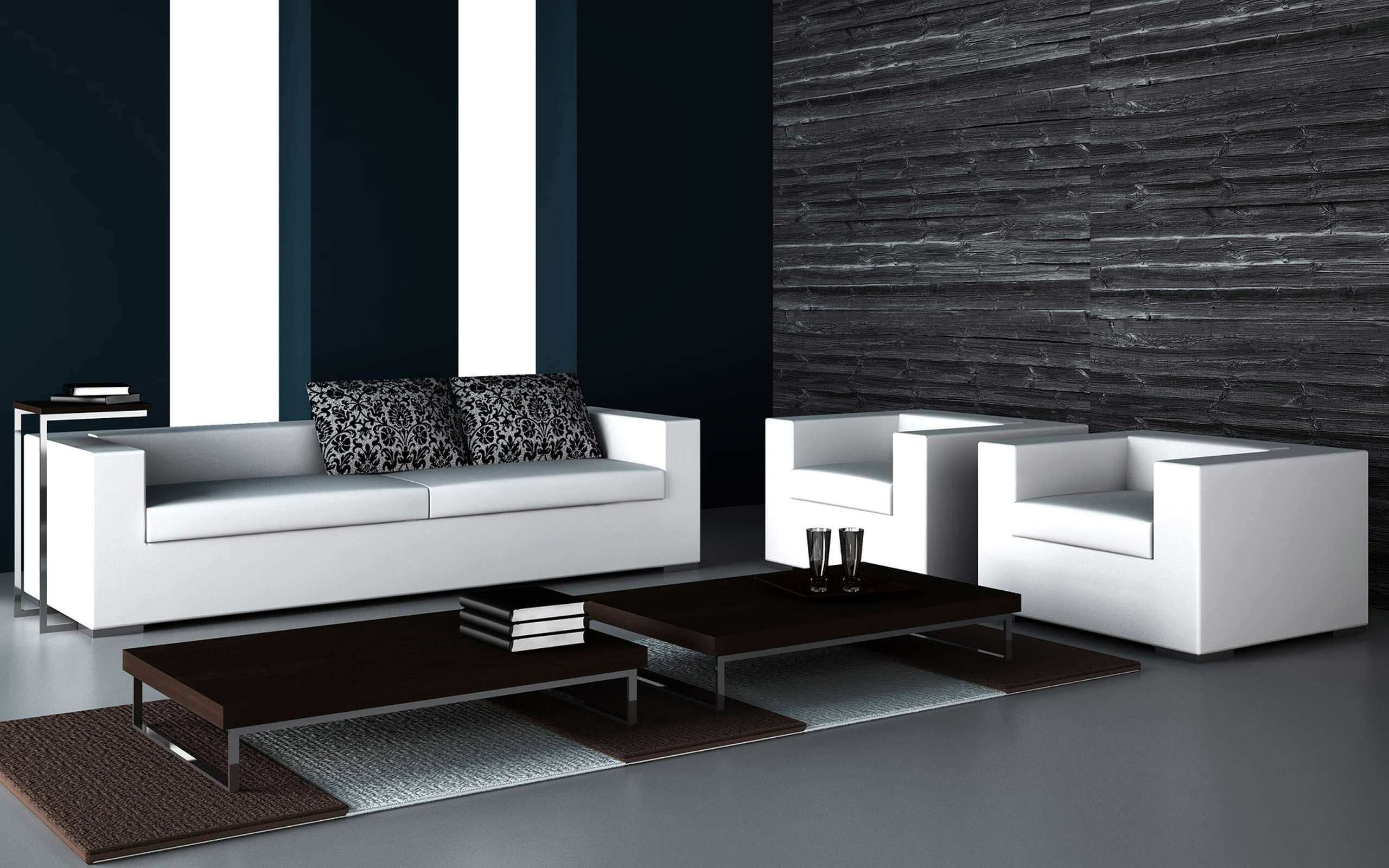 Black White Living Room