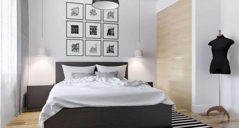 Black White Master Bedroom Shows Stretch