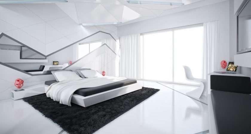 Black White Modern Bedroom Interior Design Ideas