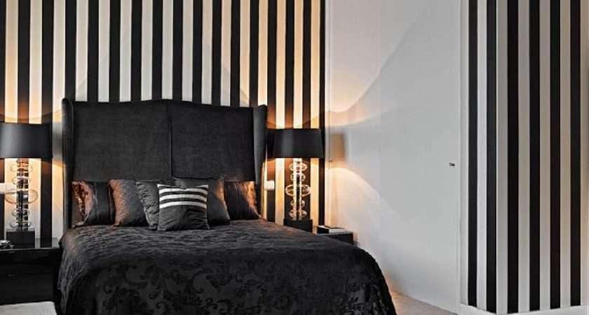 Black White Stripes Hallway Portuguese Interior Design Bedroom
