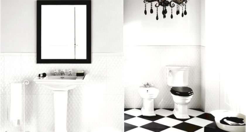 Black White Tile Bathroom Design Ideas Eva Furniture