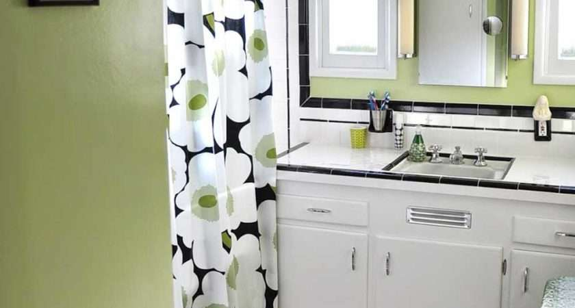 Black White Tile Bathrooms Done Different Ways