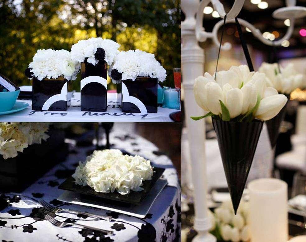 Black White Wedding Decoration Weddings