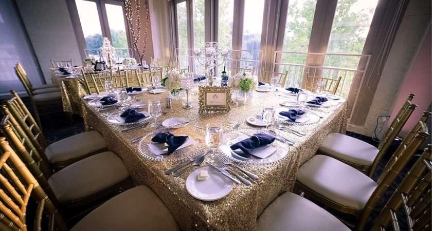 Black White Wedding Table Settings