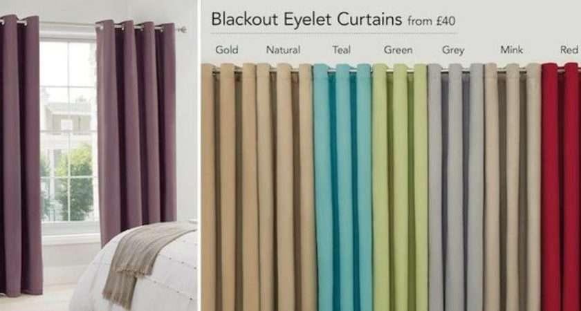 Blackout Eyelet Bedroom Curtains Pinterest