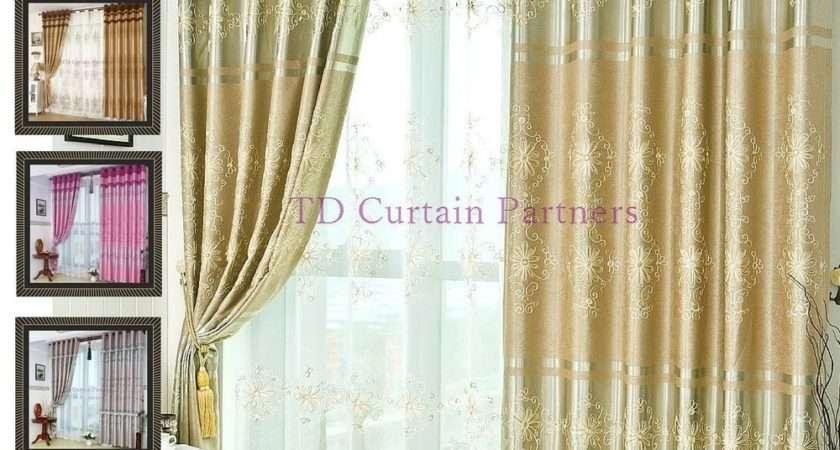 Blackout Grey Gold Pink Brown Sheer Drapes Curtains Fabric