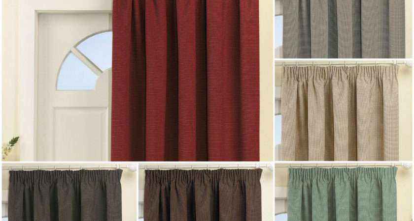 Blackout Thermal Coated Single Door Curtain Dobby Chenille