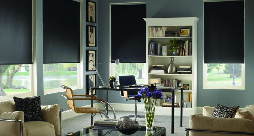 Blinds Signature Blackout Roller Shades Rockport Midnight Black