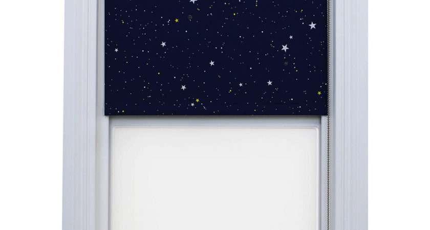 Bloc Fabric Changer Blackout Roller Blind Blue Night Sky