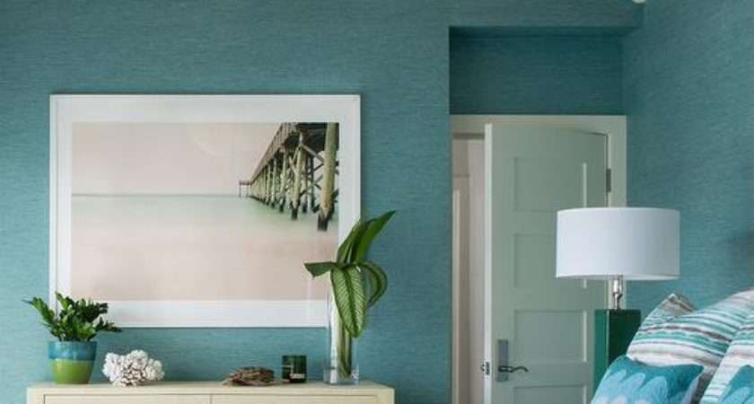 Blue Beach Bedroom Cream Fringe Chandelier