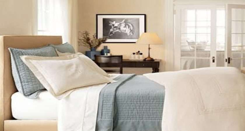 Blue Beige Bedroom Decorating Blues Creams