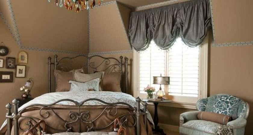 Blue Beige Guest Bedroom Traditional
