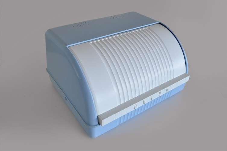 Blue Bread Bin Plastic Retro