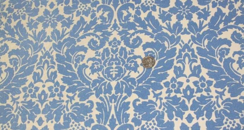 Blue Flocked Vintage