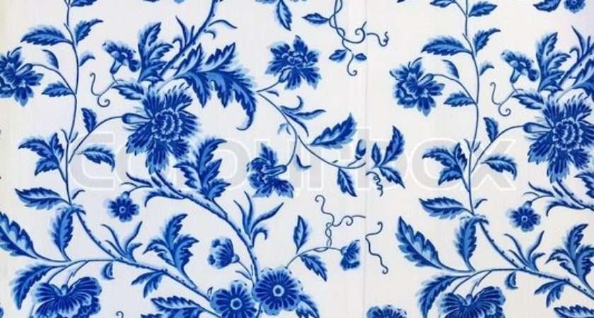 Blue Floral Pattern Colourbox