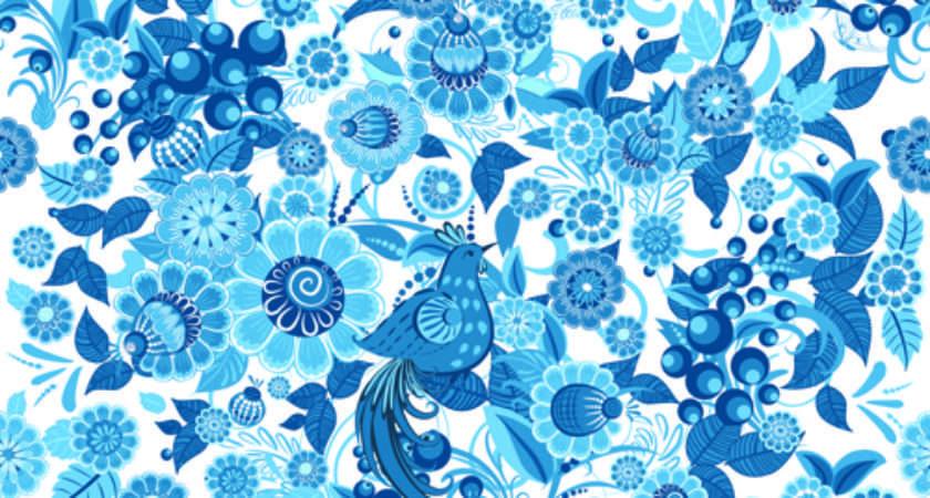 Blue Floral Patterns Flower Freecreatives