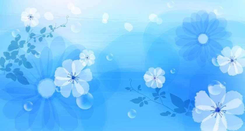 Blue Floral Patterns Freecreatives