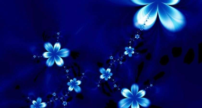 Blue Flower Light Wallpaperlepi