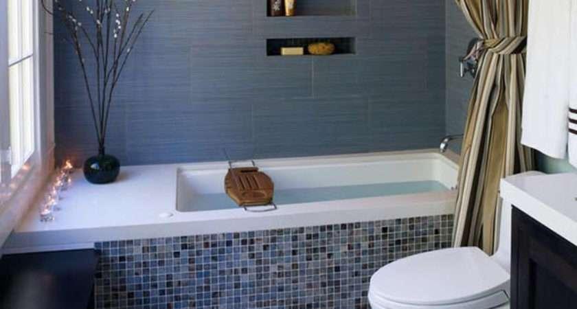 Blue Glass Mosaic Bathroom Tiles Tile Ideas