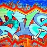 Blue Graffiti Wall Mural Muralswallpaper