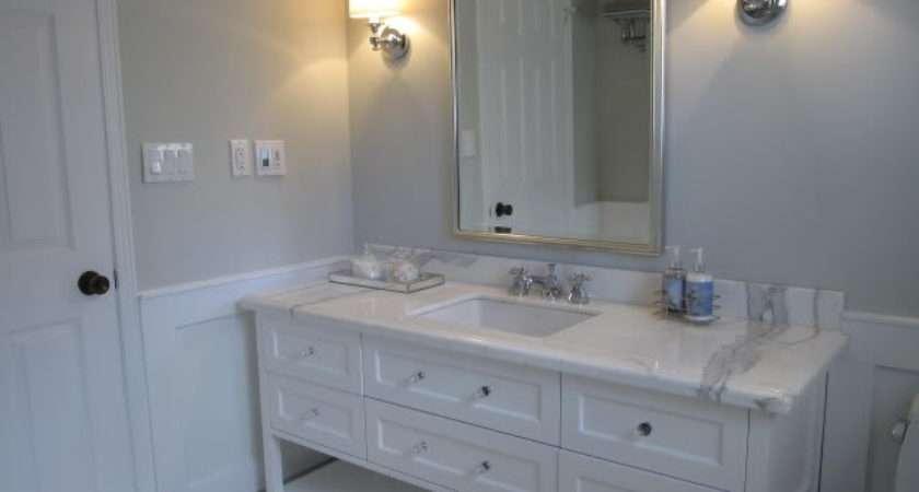 Blue Gray Paint Contemporary Bathroom Benjamin Moore