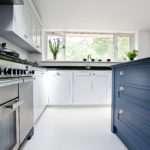 Blue Grey Kitchen Bespoke Handmade Wood Kitchens Maple Gray