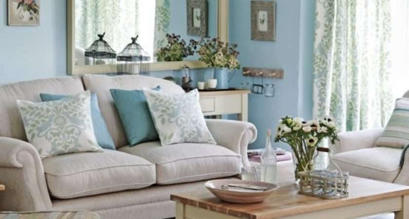 Blue Grey Living Room Brown Shape Sofa