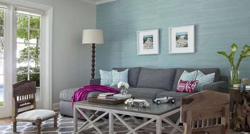 Blue Grey Living Room Wooden Furniture