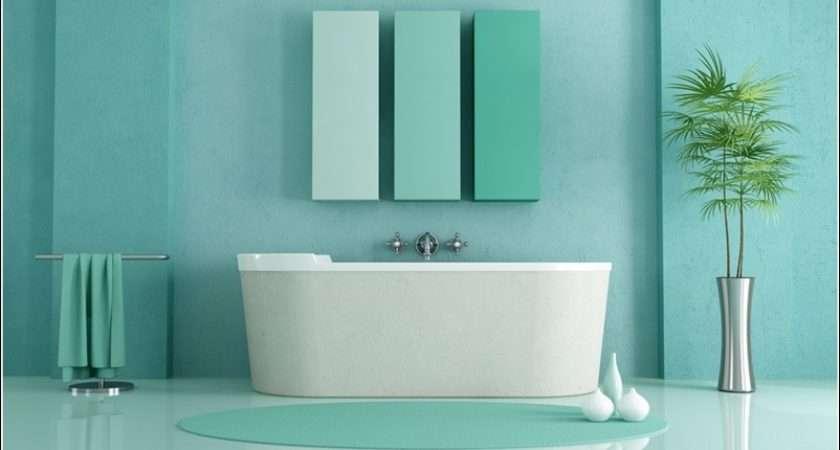 Blue Half Upper Wall Also Bath Time Fun
