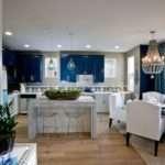 Blue Kitchen Cabinets Contemporary Lulu Designs