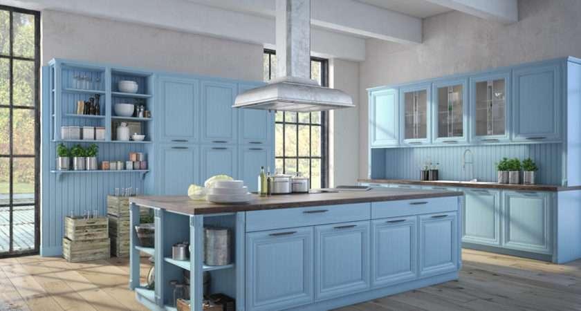 Blue Kitchen Ideas Decor Paint Cabinet