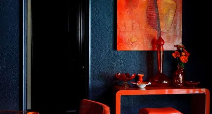 Blue Red Dining Room Design Tamara Kaye Honey Always
