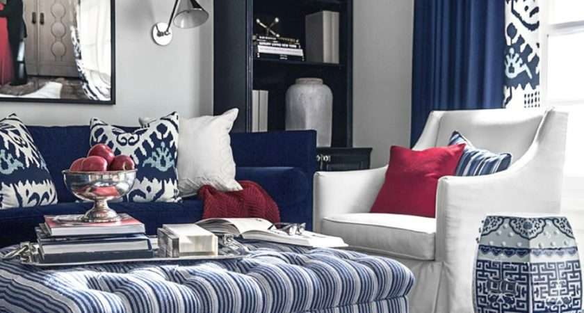 Blue Red Living Room Peenmedia