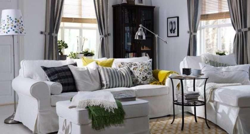 Blue White Living Room Ideas Ikea Decorating