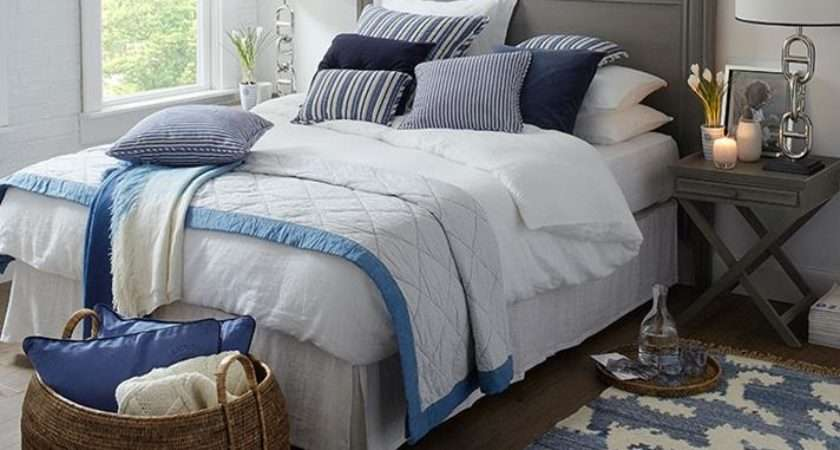 Blue White New England Bedroom Best Bed Linen Ever