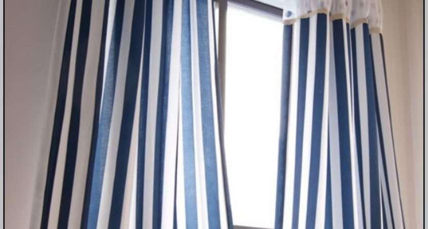 Blue White Striped Curtains Home