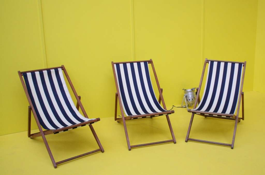 Blue White Striped Deck Chairs More Production
