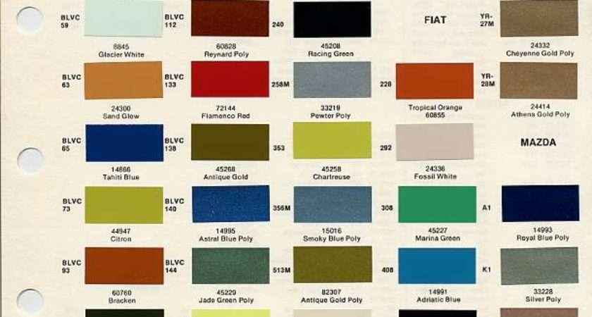 Bmc Paint Codes Colors Library