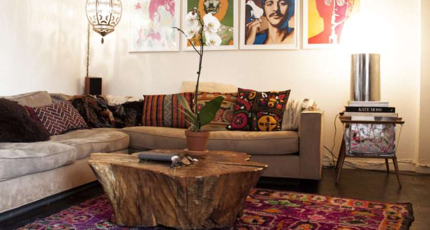 Bohemian Living Room Photos