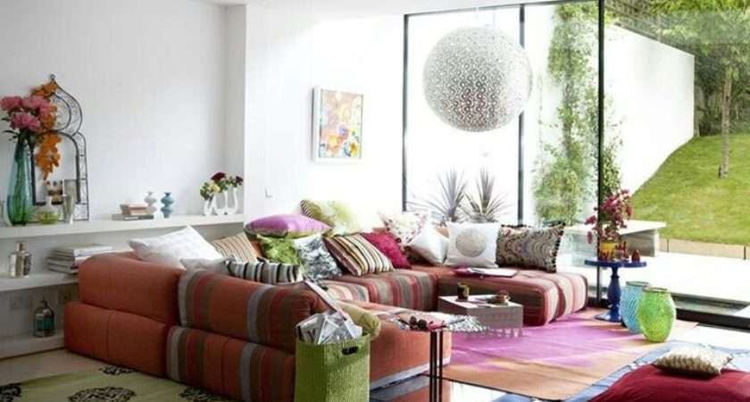 Bohemian Living Room Rooms Pinterest