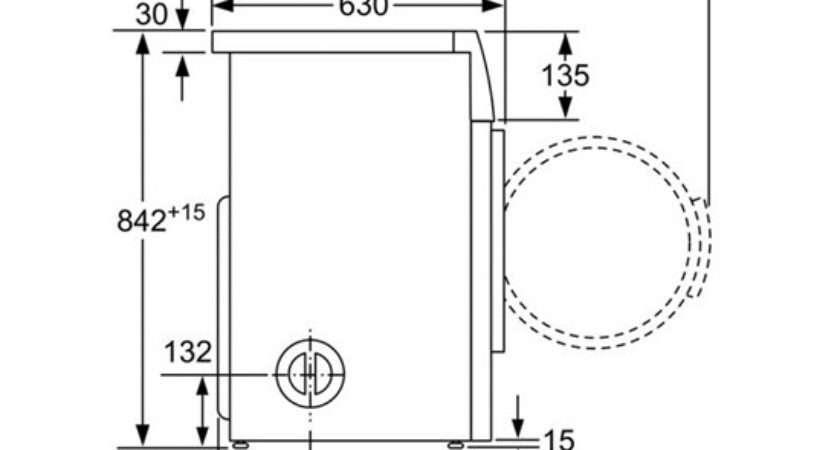 Bosch Wta Classixx Freestanding Vented Tumble Dryer