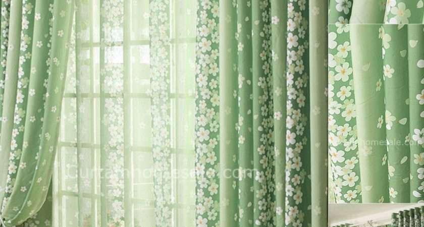 Bottle Green Curtains Presented Garden Floral Feelings