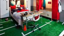 Boy Room Vignette Incorporated Lockers Astroturf