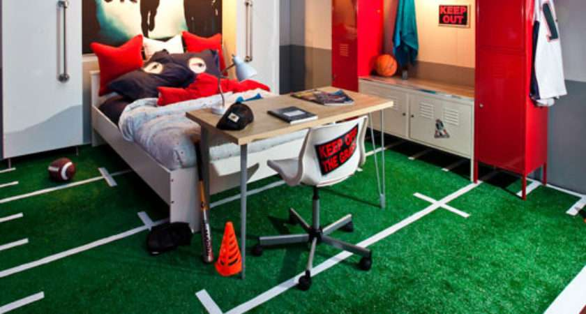 Boy Room Vignette Incorporated Lockers Astroturf