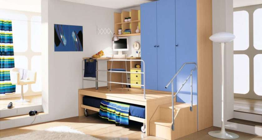 Boys Bedroom Multilevel Study Table