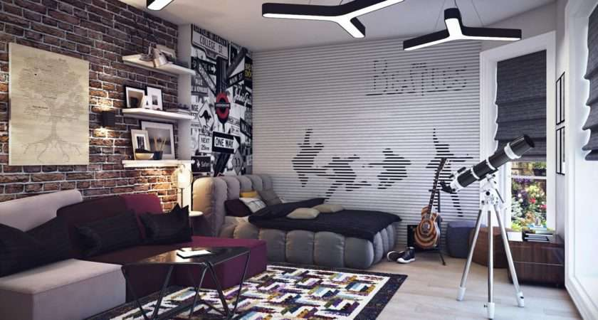 Boys Room Decorating Ideas Modern Bedroom Young Adults