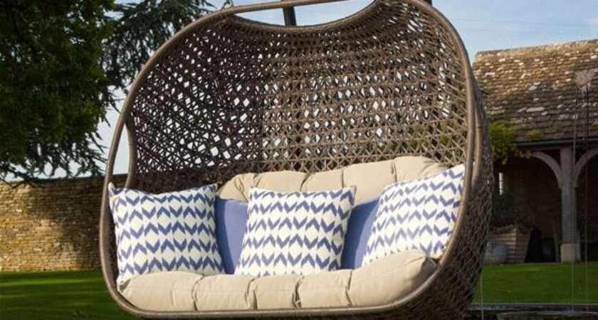 Bramblecrest Rio Double Hanging Cocoon Rattan Pod Chair