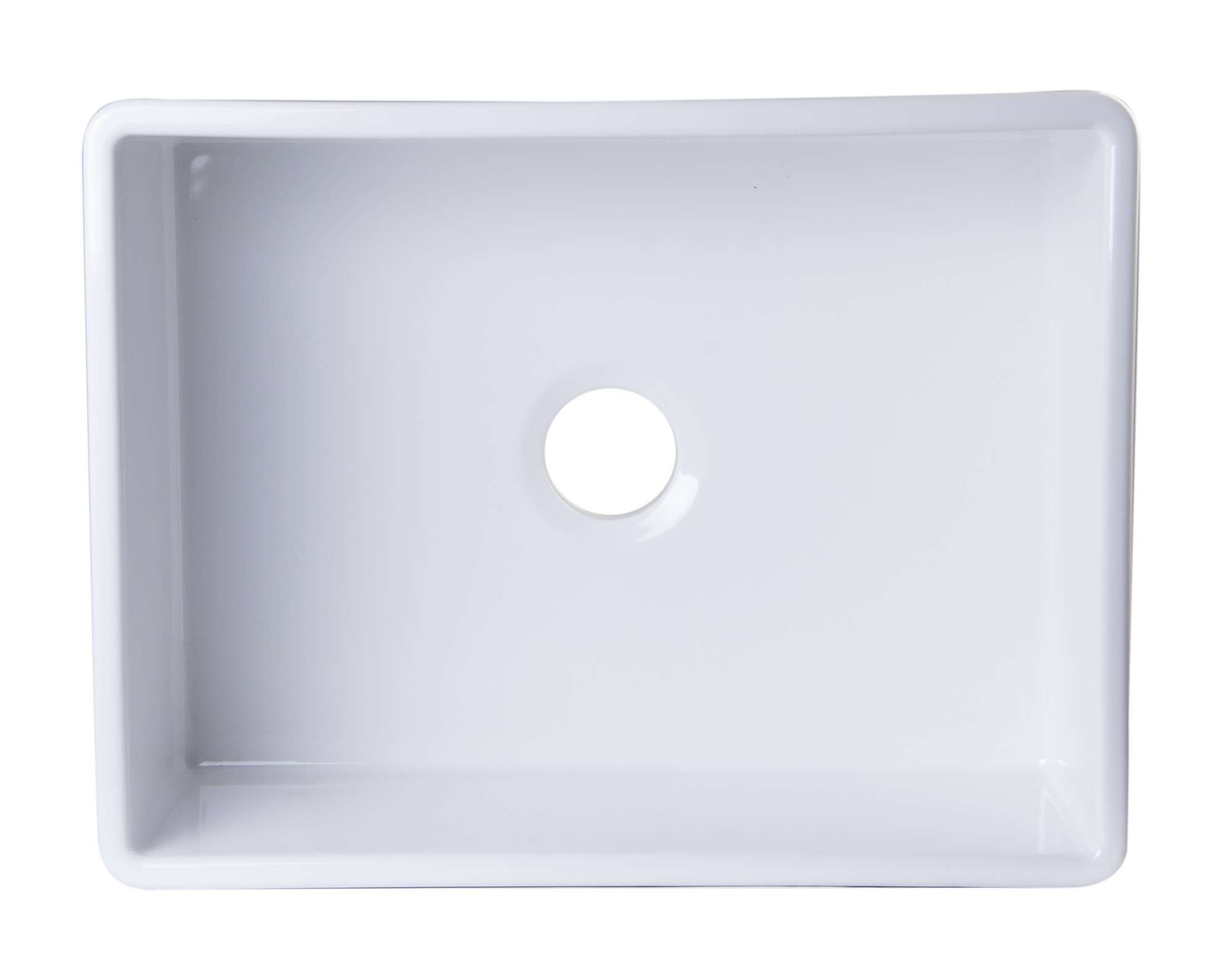 Brand Contemporary Smooth Fireclay Farmhouse Kitchen Sink