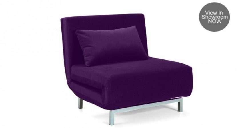 Brando Sofa Bed Single Reclining Fabric Lilac Red Bordeaux
