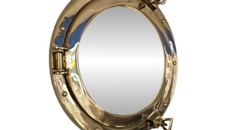 Brass Porthole Mirror Coastal Style Gifts